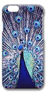 iPhone 6 Case, Protective Case[Scratch Resistant][Perfect Fit] Hard 3D Cover for 4.7 inches iPhone 6 - Peacock 01