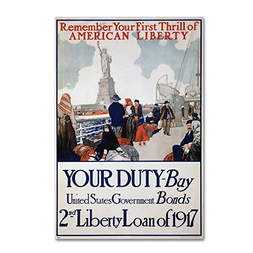 Statue Of Liberty wall art 1917 by Vintage Apple Collection