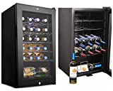 Leoneva 24 Bottle Standing Compressor Wine Cooler Refrigerator with Lock for Home Office or Bar