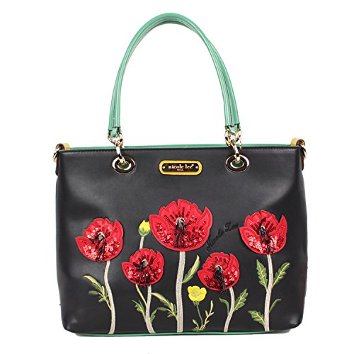 embroidered-design-colorful-flower-sequins-spacious-tote-bag-black