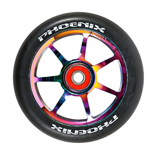 Phoenix F7 Alloy Pro Scooter Wheel 110mm with ABEC 9 Bearings - Single or Set (Single)