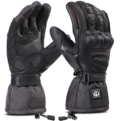 day wolf Heated Motorcycle Gloves Waterproof 7.4V 2200MAH Electric Rechargeable