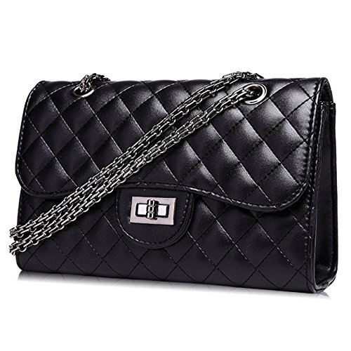 Bag Mini 8 Body Crossbody 26 Black Clutch Ladies Handbag Black Bag 5cm 17 Cross Gold Evening Dress Quilted Classic Chain Small UxwnYXfqC