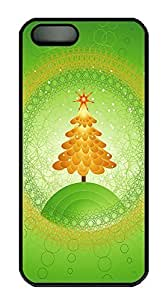 iPhone 5 5S Case Green Christmas Tree PC Custom iPhone 5 5S Case Cover Black