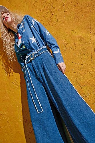 Sack Jeans Cavallo Elf Blau Basso Donna p6x6Hz