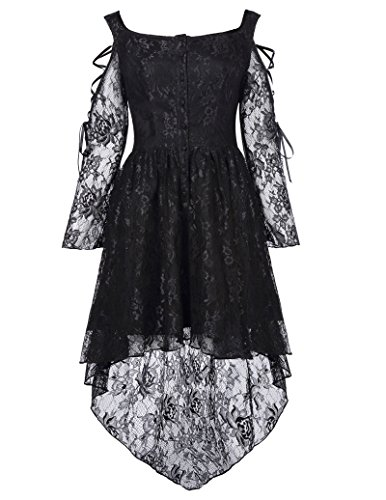 Floral Lace Formal High-Low Dresses For Women Victorian Dress BP350-1 L - Victorian Goth