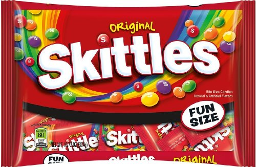 Skittles Fun Size Bag, Assorted (Pack of 2) for $<!--$6.40-->