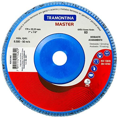 Tramontina 42631002, Disco Flap Cônico Diâmetro 7, Lixa com Grãos de Zircônia 60, 13300 Rpm