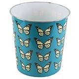 JVL Novelty Plastic Butterfly Waste Paper Bin, Blue, 25 x 26.5 cm