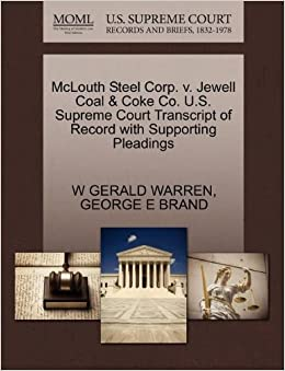 McLouth Steel Corp. v. Jewell Coal and Coke Co. U.S. Supreme Court Transcript of Record with Supporting Pleadings