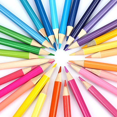 Soucolor 160 Colored Pencils Set Artist Drawing Coloring Pencils for Adult Coloring Books Art Projects by Soucolor (Image #3)