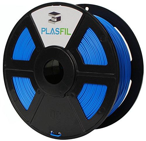PLASFIL Blue 3D Printer Filament, Vacuumed Sealed 1.75mm PLA PRO (PLA+) Printing Filament, 1KG Spool, +/- 0.03 mm Dimensional Accuracy, Low Odor (Lamp Standard Orange)