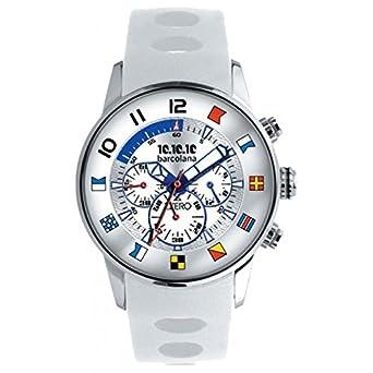 Uhr Zzero Barcolana zz3368b Quarz (Batterie) Stahl Quandrante weiß Armband Gummiarmband '