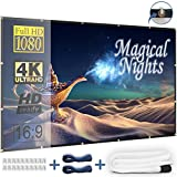 #3: Outdoor Projector Screen 120 Inch - Foldable and Portable Movie Screen with Hooks and Ropes, No Stand Needed, Only 2 LBS - Clear and Bright Image, Great for Portable Projector (USA SELLER)