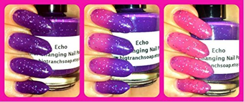 Color Changing Thermal Nail Polish - Pink/Purple - FREE SHIPPING -