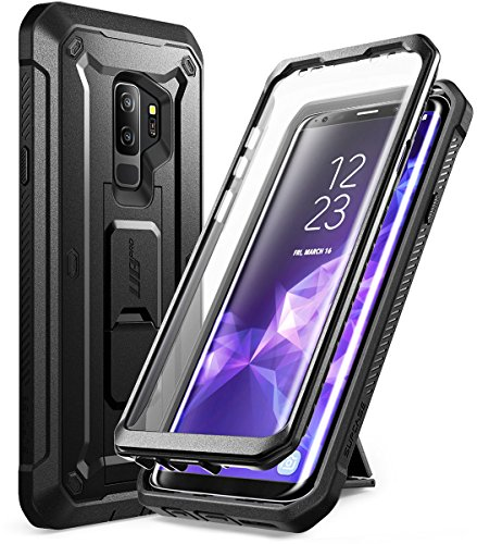 Galaxy S9 Plus Case, SUPCASE Kickstand Rugged Case with Built-in Screen Protector Shockproof Cover for Samsung Galaxy S9 Plus 6.2 inch 2018 Release (Black)