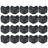 Kmise Black Hard Plastic Guitar Amp Cabinets Amplifier Speaker Cabinet Corner Protectors L Size Pack of 20