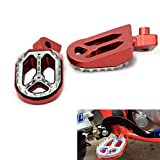 Alpha Rider Motorcycle Billet CNC Wide Foot Pegs Pedals Foot Rests For Yamaha YZ85/125/250 1999-2015 | YZ/WR 250F 1999-2015 | YZ450F 2004-2015 Red