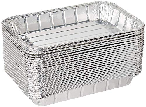 Pack of 20 Disposable Aluminum Foil Toaster Oven Pans-Mini Broiler Pans | BPA Free | Perfect for Small Cakes or Personal Quiche | Standard Size - 8 1/2