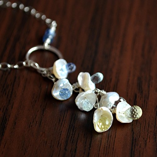 (Keishi Pearl Lariat Necklace in Sterling Silver)