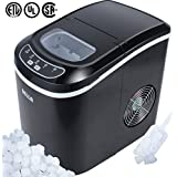 Della Portable Ice Maker Easy-Touch Buttons Digital 2 Selectable Cube Sizes - Up To 26 LBS of Ice Daily