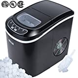 DELLA 048-GM-48183 Portable Ice Maker Easy-Touch Buttons Digital 2 Selectable Cube Sizes - Up To 26 LBS of Ice Daily