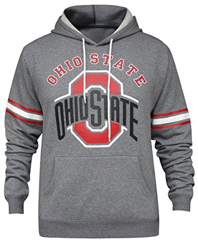 Men's Ohio State Buckeyes Athletic Hoodies Fleece Sweatshirts - Grey (Size: (Ohio State Buckeyes Fleece)