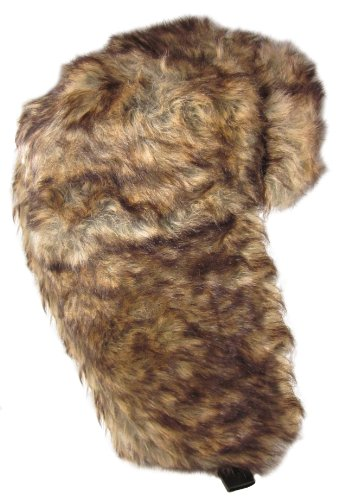 Dakota Dan Winter Trooper Hat Faux Brown Rabbit Fur - One Size Fits Most