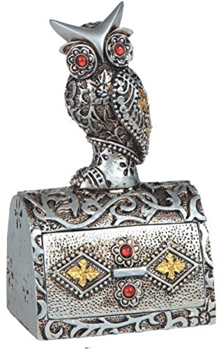 GSC StealStreet SS-G-54373 Silver Toned Trinket Box With ...