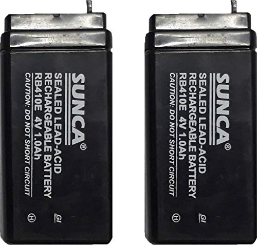 eClouds 4V 1 Ampere Sunca/Sigma Sealed Lead Acid Type Battery   Pack of 2 General Purpose Batteries   Battery Chargers