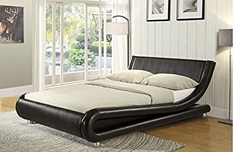 Enzo Italian Designer Faux Leather Double Bed Stunning Design In ...