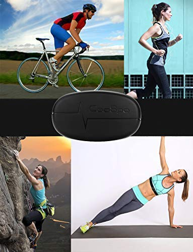 CooSpo Heart Rate Monitor Strap Chest Belt Sensor Support Bluetooth 4.0 and ANT+ IP67 Waterproof Compatible with Wahoo Strava Zwift