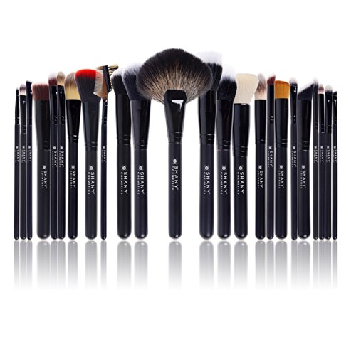 SHANY Pro Signature Brush Set 24 Pieces Handmade Natural/Synthetic Bristle with Wooden (Pro Sable Makeup Brush)