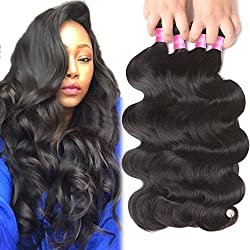 4 Bundles Brazilian Hair Bundles 22 24 26 28inch 10A Brazilian Body Wave Virgin Hair Bundle Deals Unprocessed Remy Human Hair Weaves Brazilian Hair Extensions