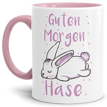 Tassendruck Oster Tasse Guten Morgen Hase Osternwitzigoster Geschenkschönlustiginnen Henkel Rosa