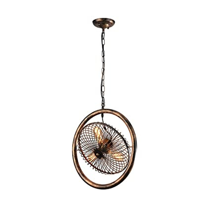 Hierro LED Lámpara antigua, Nordic triples ventilador de la lámpara de techo industria retro clásico