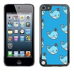 TopCaseStore / la caja del caucho duro de la cubierta de protección de la piel - Kids Drawing Blue Children'S - Apple iPod Touch 5