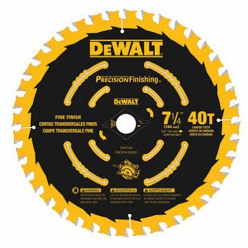DEWALT DW3194 7-1/4-Inch 40T Precision Framing Saw - Saw 1/4
