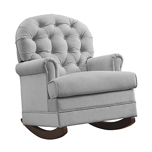 Baby Relax Brielle Button Tufted, Upholstered Rocker/Gray by Baby Relax