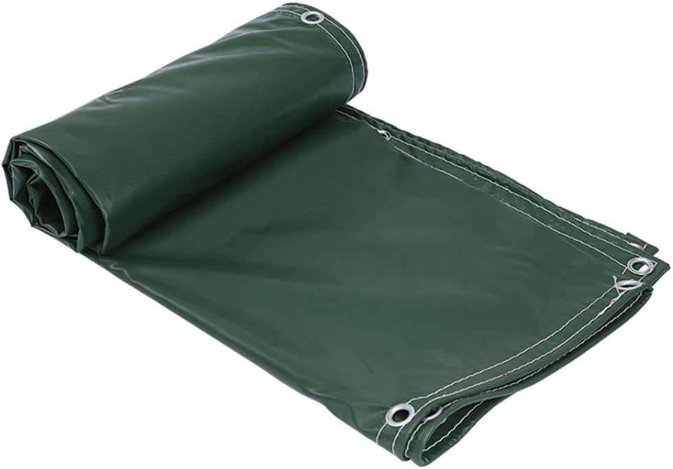 Light Weight Waterproof Cover,Tarpaulin with Metal Gromments,6x8ft Dark Green Multi Purpose Poly Tarp