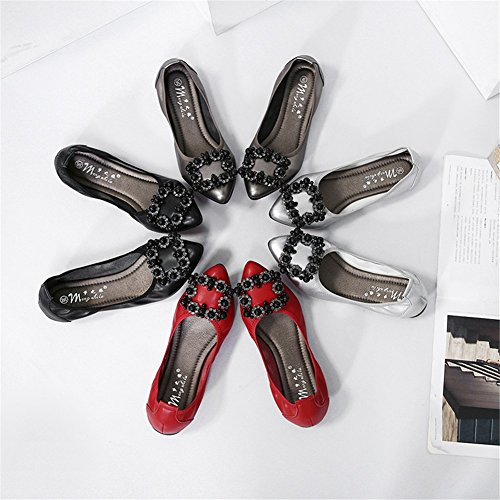 Travail Printemps Chaussures Ons Mode Microfiber Taille Automne Femmes Grande Pois D Mocassins Plat Formelle 2018 Professionnel Slip Chaussures xwXzFqSPO