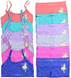 ToBeInStyle Girl's Pack of 6 Set of Bras and Boyshorts - Star Dress - Large