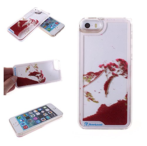 Nine States Plastic 3D Dynamic Effect Plant and Beads Case for Apple iPhone 5 5S Red