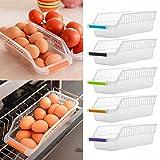 LiPing 11.6×5.4×5.3in Kitchen Refrigerator Space Saver Organizer Slide Shelf Rack Rack Holder Storage Storage Container Rack (Ramdon)