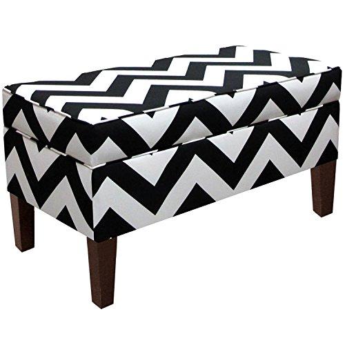 Skyline Canopy - Skyline Furniture Storage Bench, Canopy Stripe Black/White