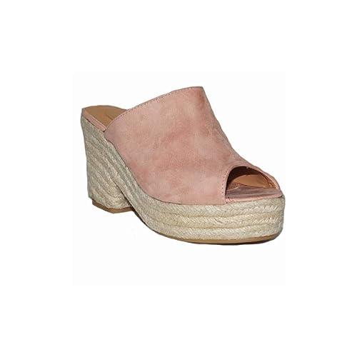 ea72e4b9738 3 Moda amp d H Zapatos Tacón Esparto Mujer Suecos Española Zapato 1702  0SOx5qO