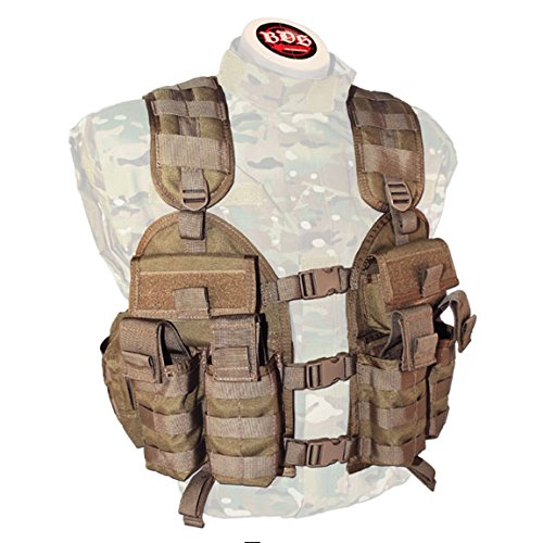 BDS Tactical Stacker Assault Vest - Coyote Brown by BDS Tactical