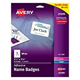 #6: Avery Premium Personalized Name Tags, Print or Write, 2-1/3 x 3-3/8, 80 Adhesive Tags,(25395)