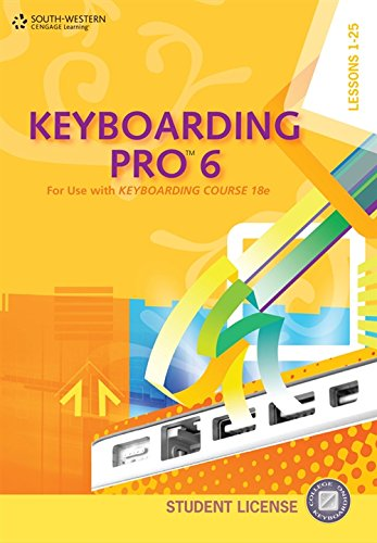 Keyboarding Pro 6, Student License (with User Guide and CD-ROM)