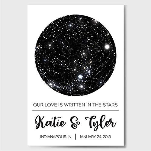 Custom Personalized Star Constellation Map, Star Chart, Custom Engagement  Anniversary Birthday Baby Wedding Present, Cool Gift Idea, Night Sky Poster